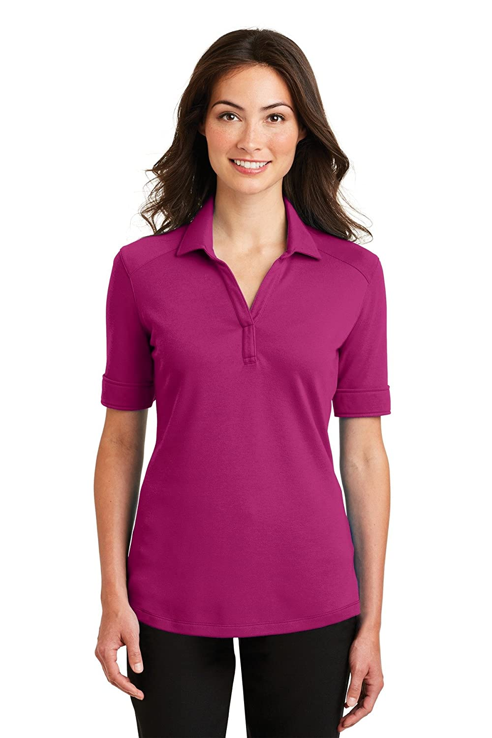 Port Authority Ladies Silk Touch Interlock Performance Polo-L5200-XS