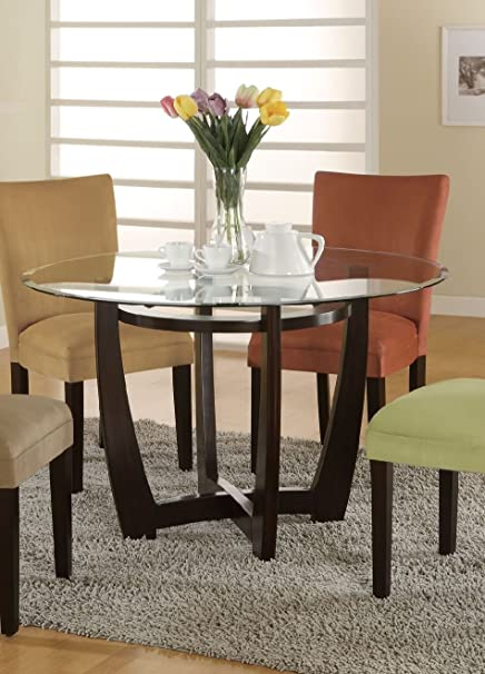 Bloomfield Round Glass Top Dining Table By Coaster
