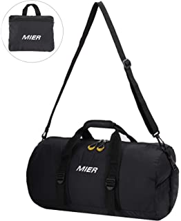 6ceb796f37 MIER Lightweight Gym Sports Bag Travel Duffel Backpack with Shoes ...