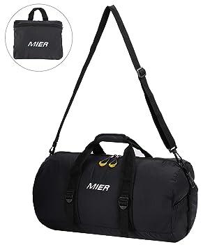 f93f5072e8 MIER 40L Foldable Barrel Gym Bag Sports Holdall Duffel Bag for Women ...
