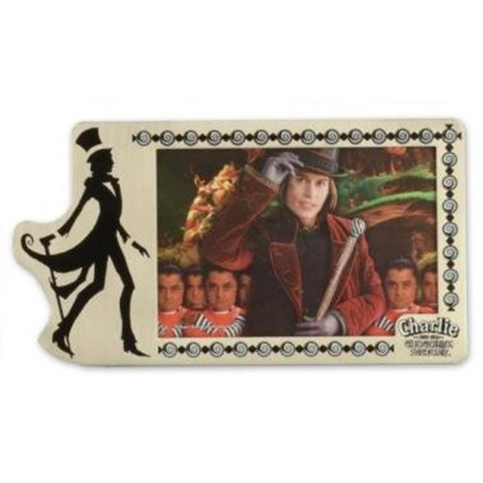 Charlie and the Chocolate Factory Pewter Frame 4'' X 6''