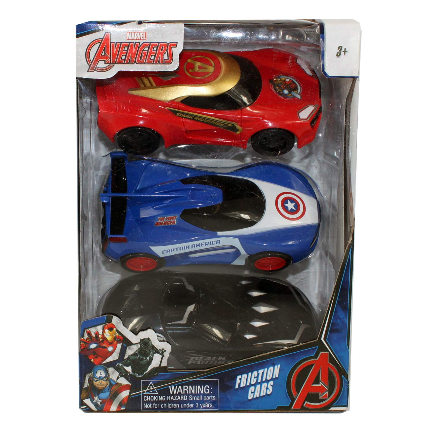 Connie N Randy Marvel Avengers Set of 3 Friction Cars