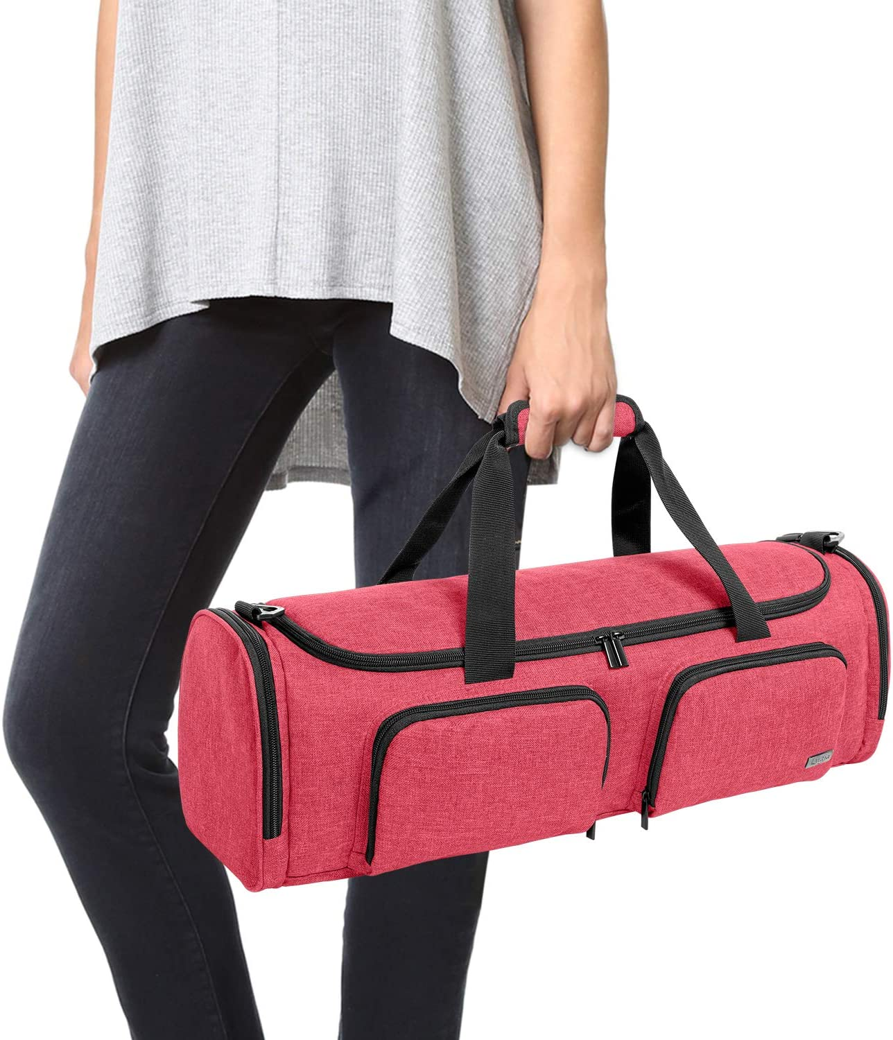 Red Luxja Bag for Cricut Explore Air Carrying Case for Cricut Die-Cut Machine and Accessories Air2 and Maker Bag Only
