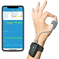 Wellue Wrist Wearable Sleep Monitor - Bluetooth Pulse Meter Health Tracker   Overnight O2 Saturation Level and Heart…