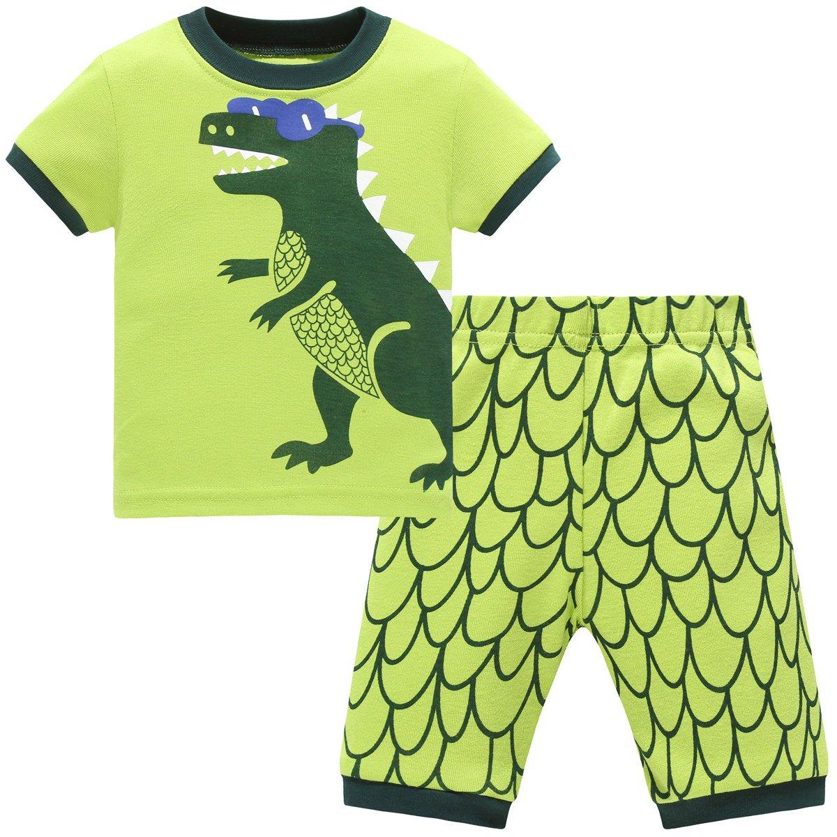 Papoopy Boys Dinosaur Pajama 2-7 Years
