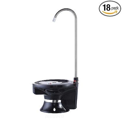 1319346e052e72 Water Dispenser-Electric Water Pump By Museco- User-Friendly- Cordless USB  Rechargeable- 1.2.3.4.5 Gullan Bottle Water Dispenser (BLACK) - - Amazon.com