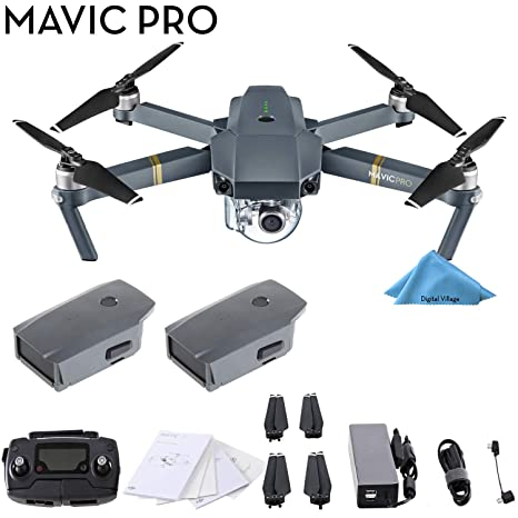DJI Mavic Pro 4 K Quadcopter Drone 2 Batería Bundle: Amazon.es ...