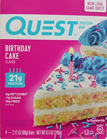 Quest Protein Bar Birthday Cake 846oz212ozx4 Pack Of 1