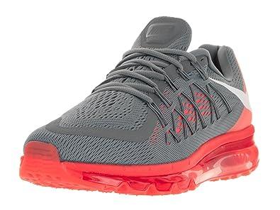 Nike Men\u0026#39;s Air Max 2015 Cool Grey/White/Bright Crimson Running Shoe 7.5 Men