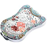 Peacock Compact Mirror By Jinvun : Durable Travel Purse Makeup Mirror With Luxury Vintage Design, Shield Shape, Magnification & Clear Reflection-Unique Jewellery Gifts for her