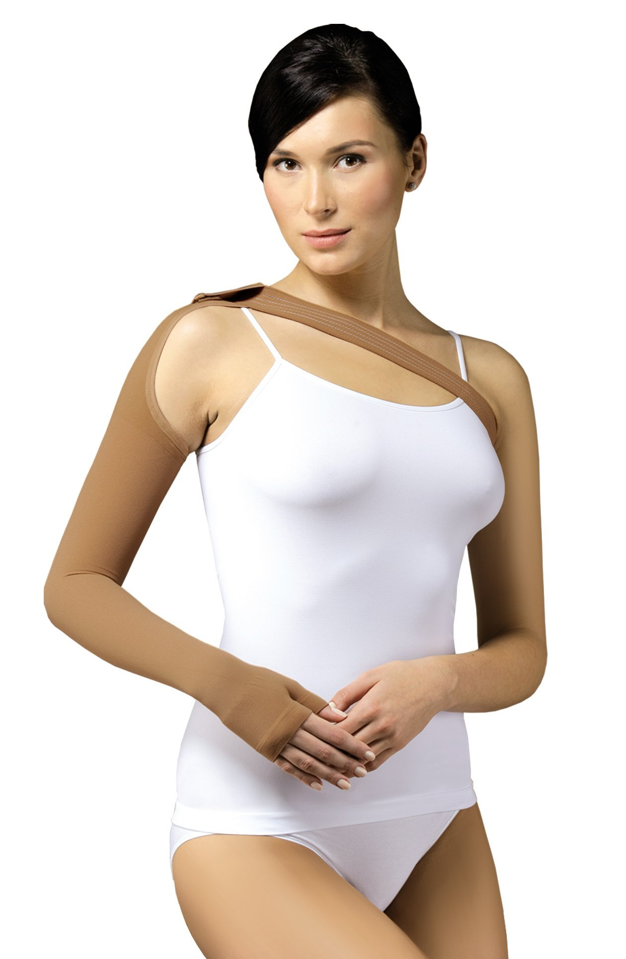 23-32 mmHg POST MASTECTOMY Compression Sleeve with Glove/Gauntlet, Medical Class 2 (II) Arm Anti Swelling Support, Lymphedema Edema (XX-Large)