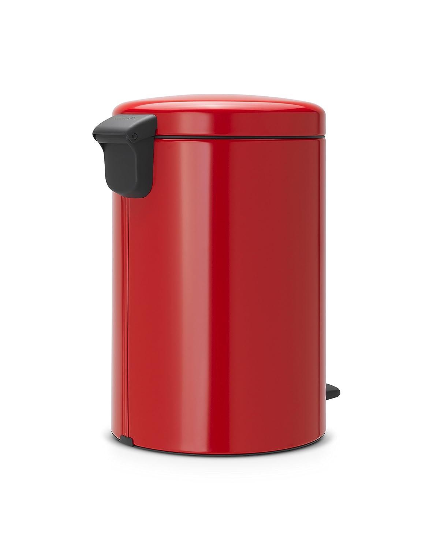 Brabantia Cubo de Basura con Pedal, Acero Inoxidable, Rojo pasión, 20 l: Amazon.es: Hogar
