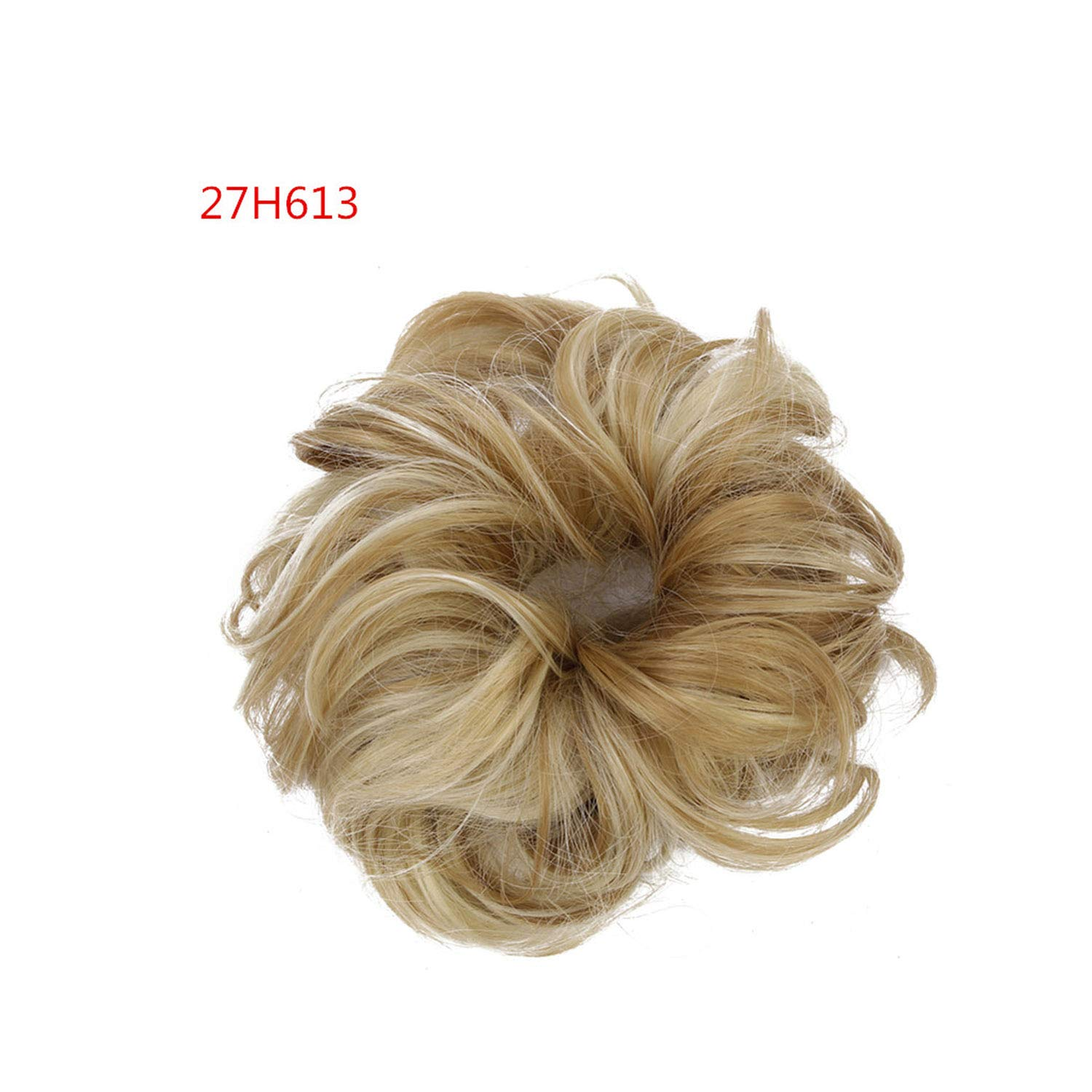 Synthetic Fake Hair Bun Chignons Hairpiece For Women Elastic Scrunchies Hair Piece Bun Hair Tail Updo Afro Ponytail Accessory,27H613 by Crystal Grass-Hair