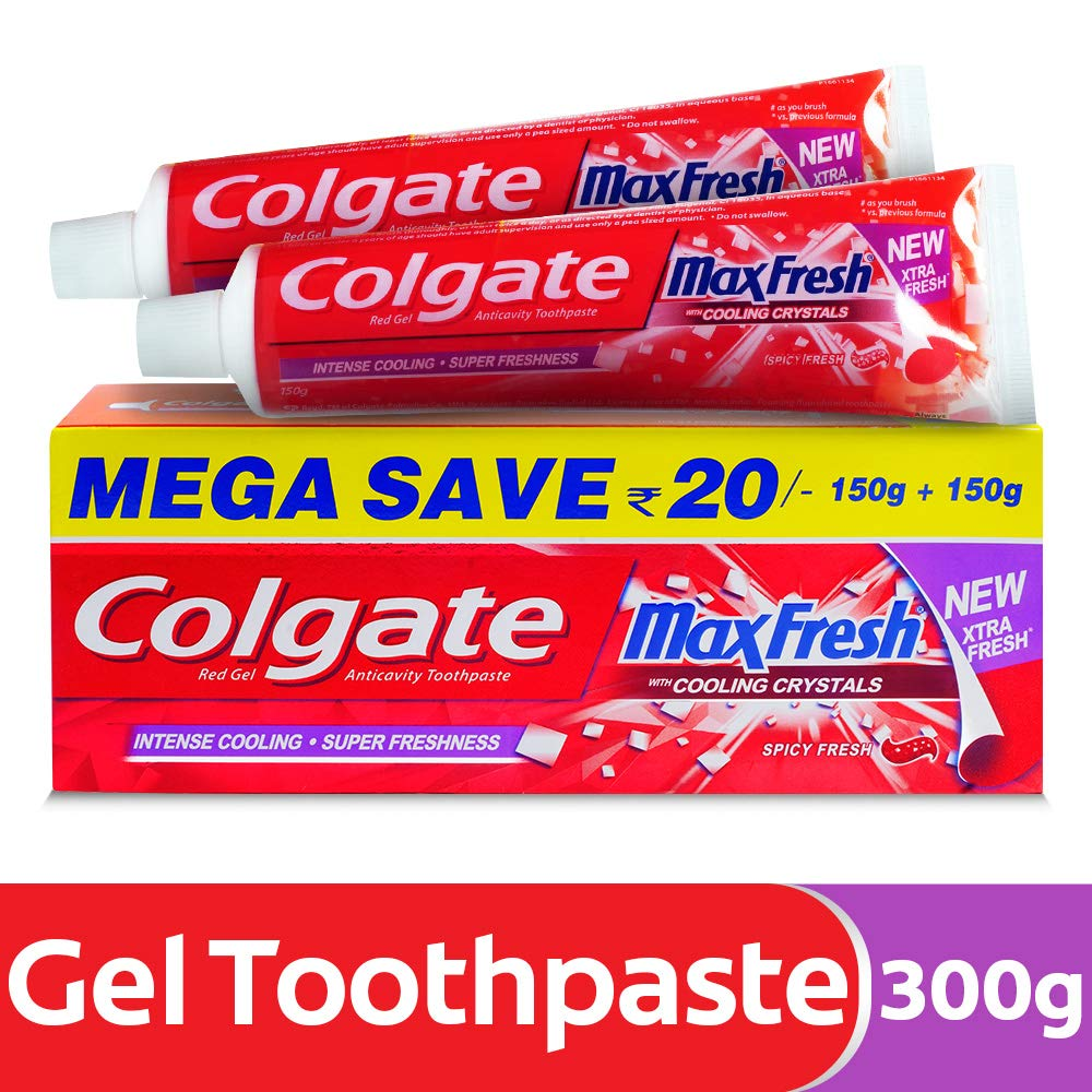 Colgate Maxfresh Spicy Fresh Red Gel Toothpaste - 300 g product image