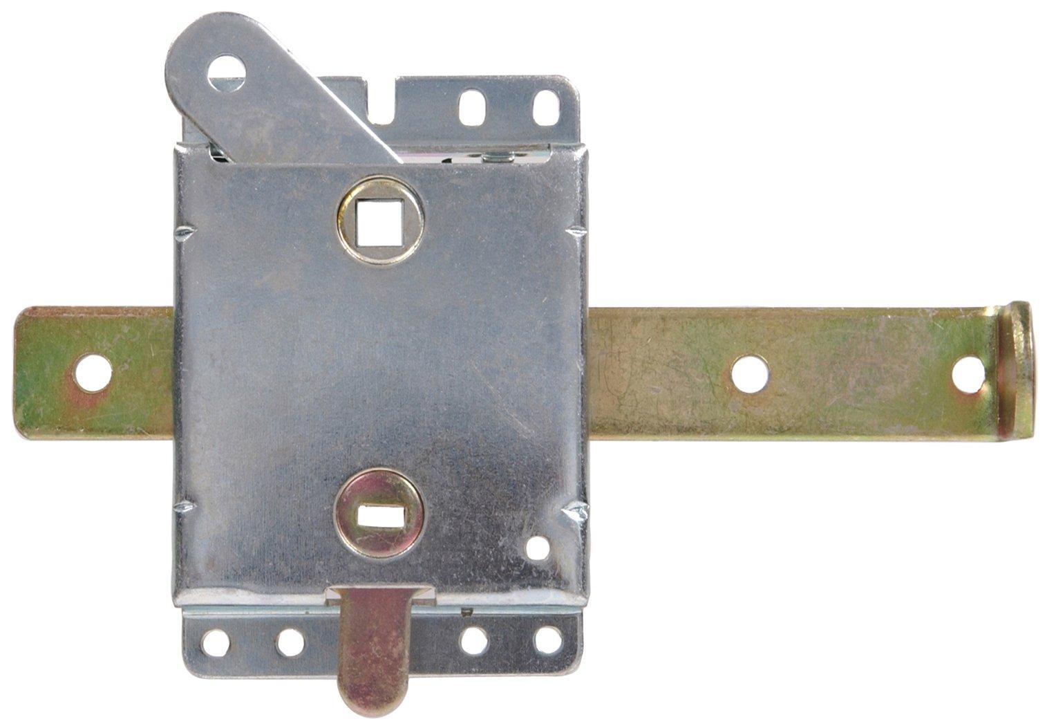 The Hillman Group 852137 7-1/2-Inch Garage Door Side Lock Zinc Plated
