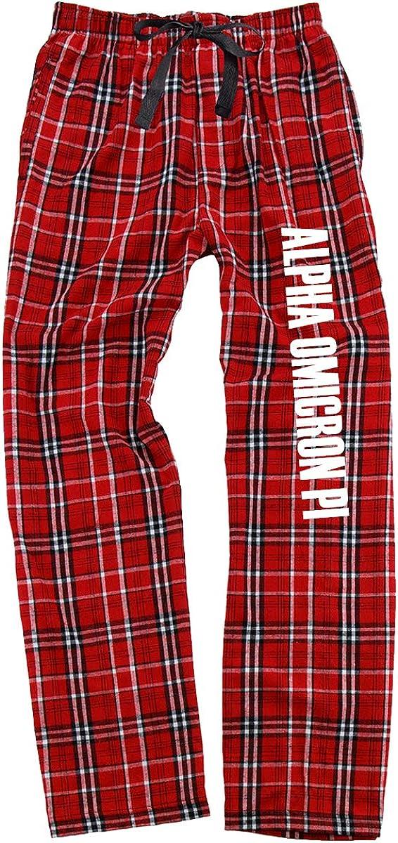 Cotton Sisters Alpha Omicron Pi Flannel Pajama Pants