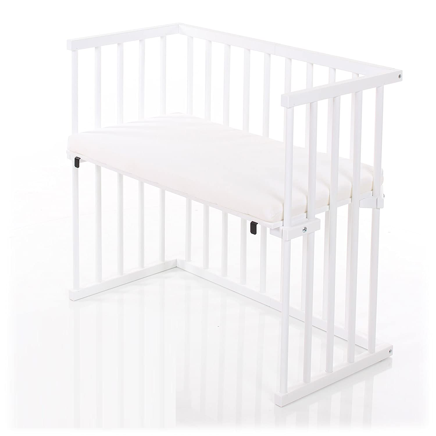 dreamgood - 132912 auxiliar cama color Blanco Incluye Colchón Prime Air & Nido, color marrón: Amazon.es: Bebé