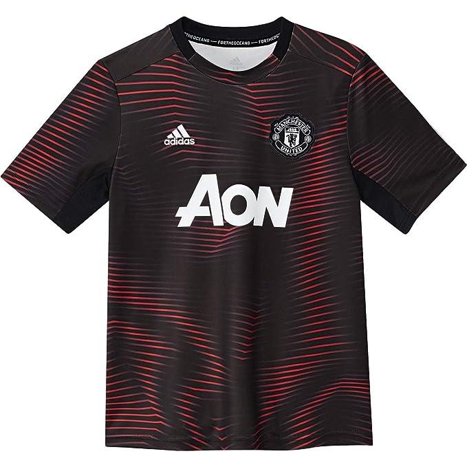 e2146aba5 adidas Youth Manchester United Preshirt 2018 2019 (Medium) Black Real Red