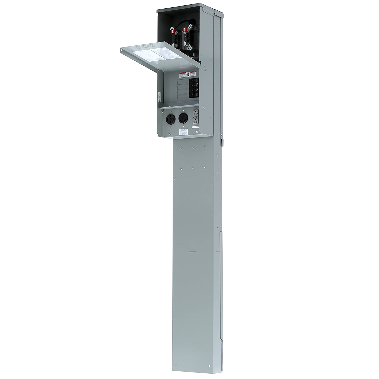 Siemens Tl137np Talon Temporary Power Outlet Panel Pedestal With A Shop Eaton 20circuit 10space 100amp Main Breaker Load Center Value 20 30 And 50 Amp Receptacle Installed Includes Ring Type Meter Socket Provision