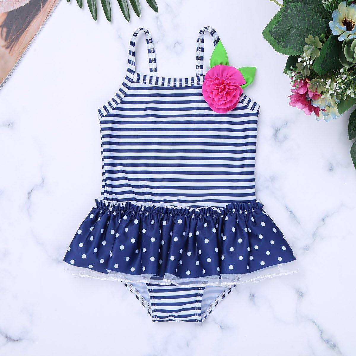 Freebily Baby M/ädchen Badeanzug Polka Dots Badebekleidung Kleinkind Schwimmanzug Bademode Badeset Baderock