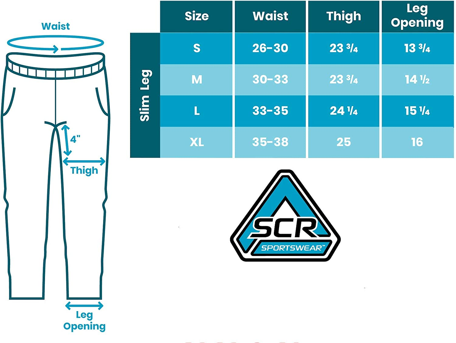 SCR SPORTSWEAR Mens Soccer Track Training Pants Athletic Sweatpants with Zipper Pockets Black Heather Grey Short Long Inseam 31W x 33L, SCR Gray-K536