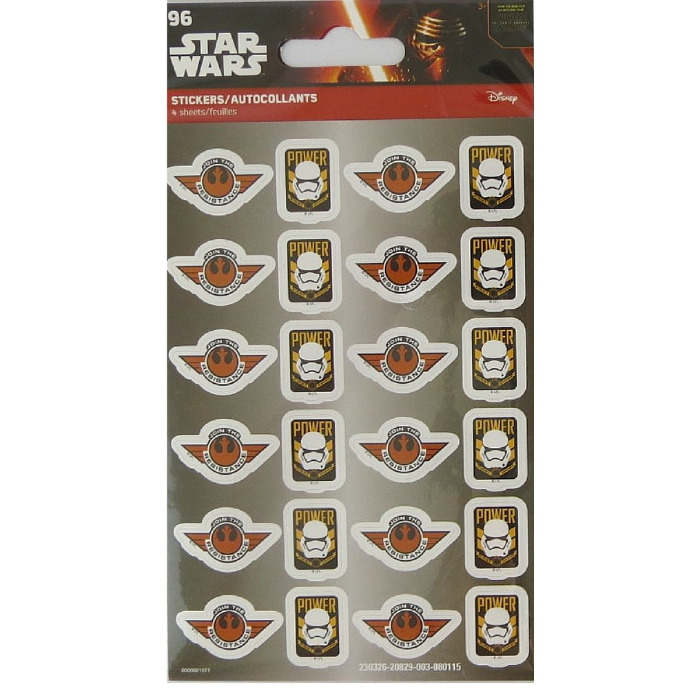 STAR WARS 96 STICKERS Greenbrier