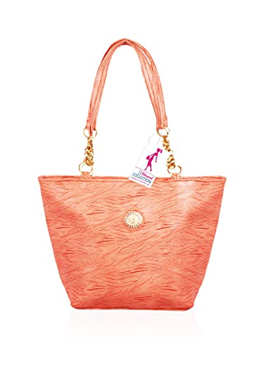 Ritupal Collection Women Shoulder Bag PU(Peach)  Amazon.in  Shoes ... 8ee87af1e93fc