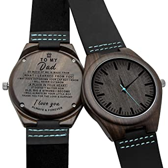 Amazon com: Engraved Wooden Watches Personalized Gifts for