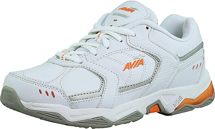 Avia Womens Avi-Tangent Womens White/Rhythm Orange/Chrome Silver Ankle-High Running Shoe - 6.5W: Avia: Amazon.es: Zapatos y complementos