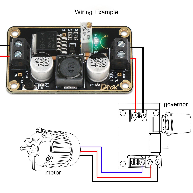 Drok Lm2596 Immersion Gold Buck Converter Dc 3v 40v 24v Electronics Technology 5vdc To 12vdc Lt1070 Boost Circuit Step Down 123v 37v 9v 12v Voltage Regulator 3a Switching Power Supply Module