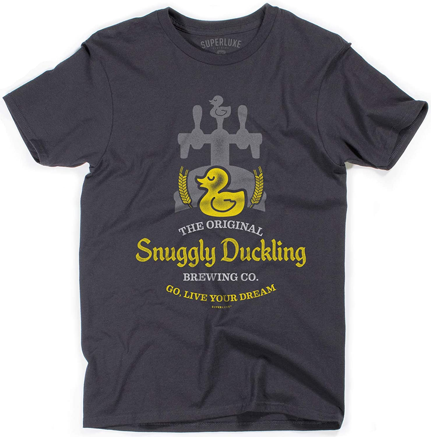 Superluxe Clothing Mens/Unisex Snuggly Duckling Brewing Company T-Shirt