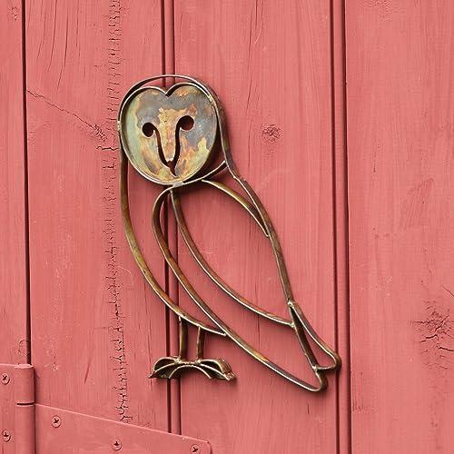 Ancient Graffiti ANCIENTAG10242 Barn Owl Wall Mount Set of 1