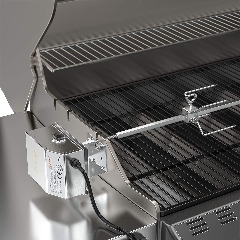 Onlyfire Acero Inoxidable Barbacoa asador Kit para Weber 7653 con Weber Genesis II y Genesis II LX 4 /& 6 Quemador barbacoas