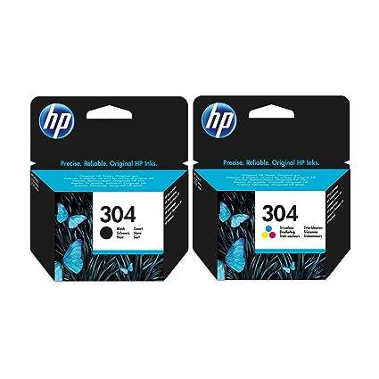 Negro y Tricolor HP Cartucho de Tinta – para impresoras HP Deskjet 3720 – Original Cartucho de Tinta