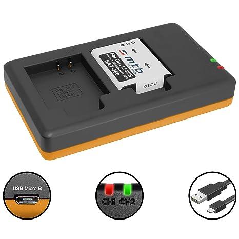 Batería + Cargador Doble (USB) para LI-90B LI-92B / Olympus Tough TG Tracker/SH-1, 2… / XZ-2 / TG-1 TG-5 - Contiene Cable Micro USB