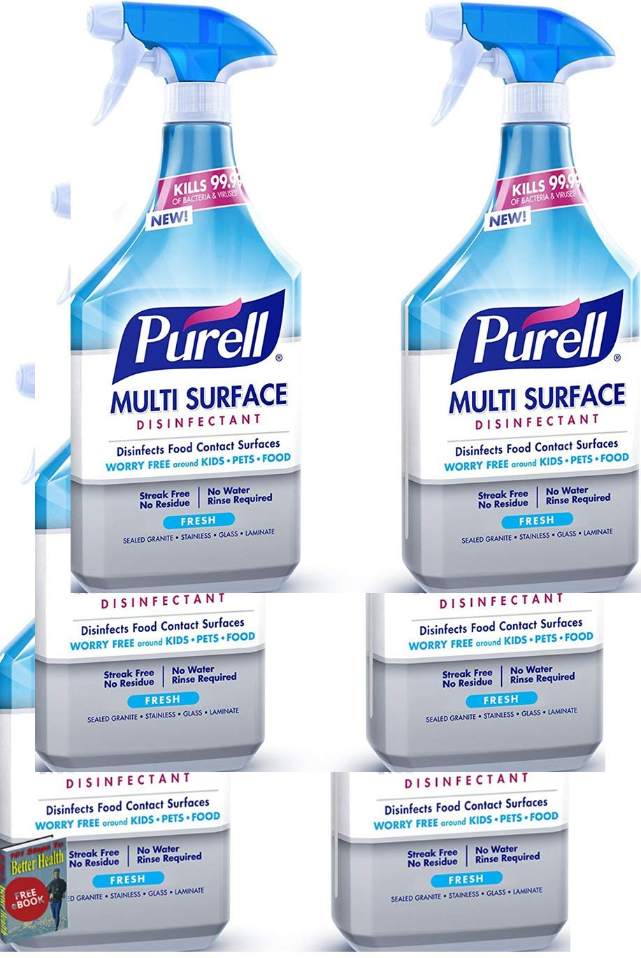 PURELL Multi Surface Disinfectant Spray - Fresh Fragrance, Voted 2018 Product of The Year - 28 oz. Spray Bottle - (PACK of 6)