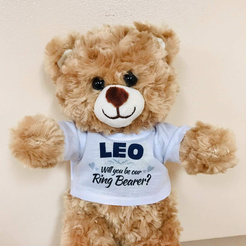 Will You Be My Ring Bearer? Ring Bearer Gift Proposal 16 Plush Teddy Bear