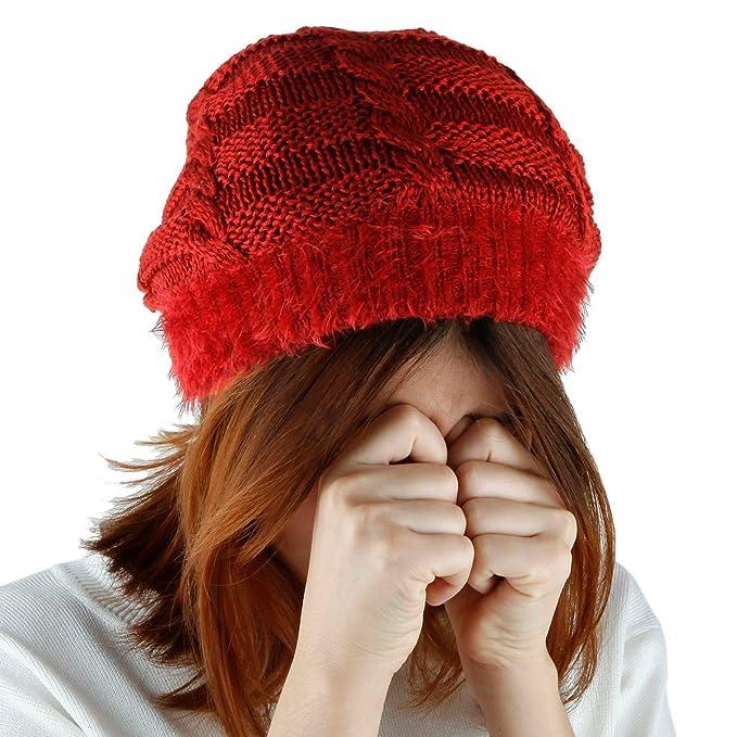 82015991 Samtree Unisex Slouchy Beanie Hat Stripe Knit Cap Loop Scarf Neckerchief  Dreadlocks