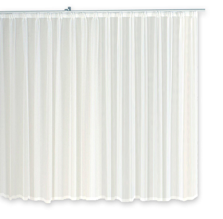 Voile Dekoschal Gardine Emotion weiß Organza Vorhang Kräuselband klassisch klassisch klassisch transparent kurz mittel oder lang Store  1309 (700x245) 60b405