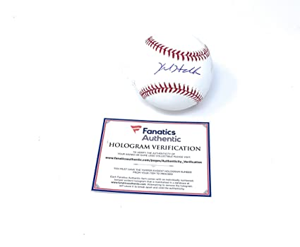 05a65aa8e86 Kyle Hendricks Chicago Cubs Signed Autograph Official MLB Baseball Fanatics  Authentic Certified