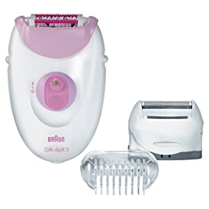Braun Silk-épil 3-3270 Women's Epilator, Electric Hair Removal, with Shaver Head, Trimmer Cap, & Massage Roller Cap (Packaging May Vary)
