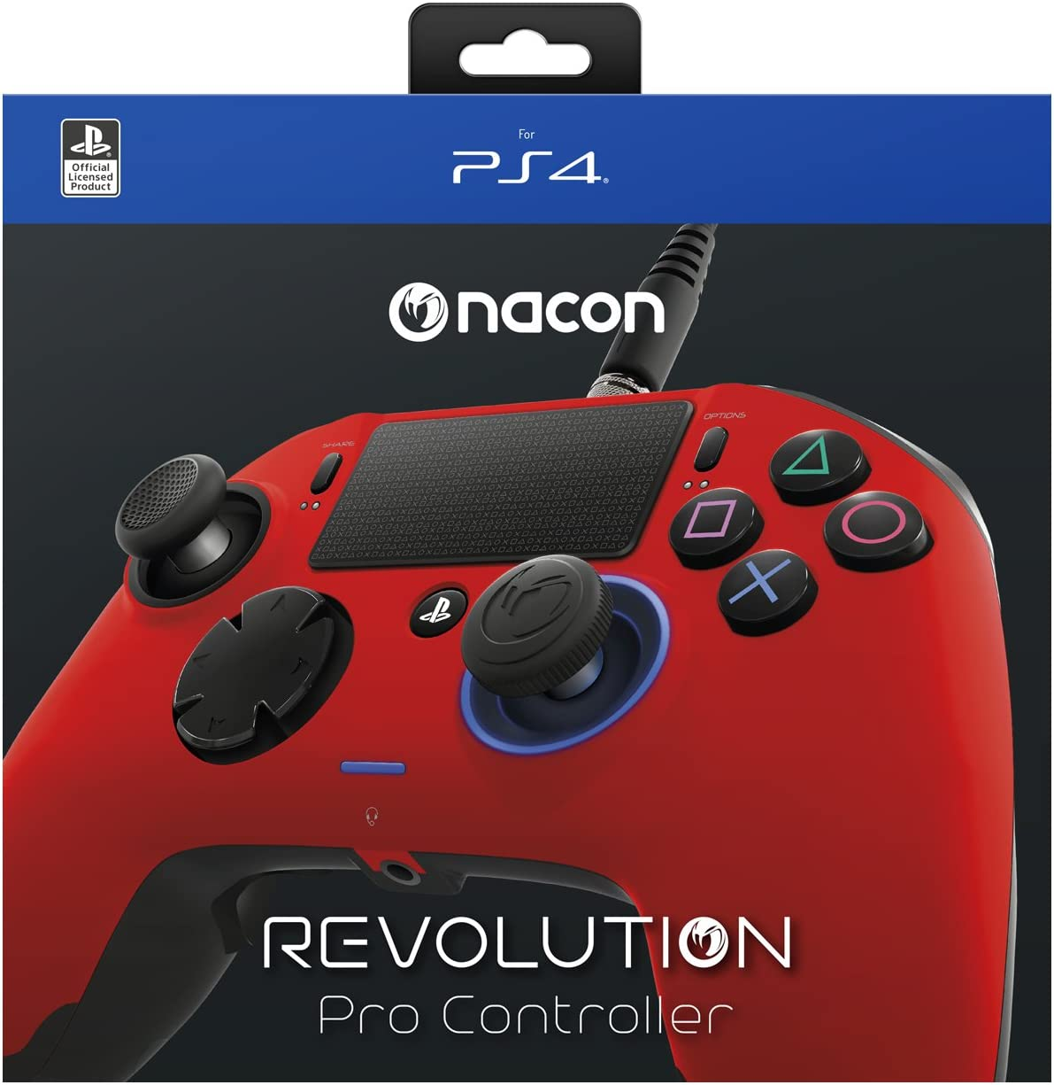 Nacon Revolution Pro Controller - Mando alámbrico, color rojo (PS4 ...