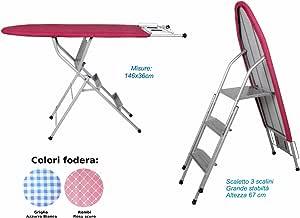 SEMAR Tabla de Planchar con Escalera multifunción, Acero Inoxidable, Alta stabilità cm 146 x 36: Amazon.es: Hogar
