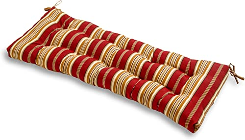 South Pine Porch AM4805-ROMA Roma Stripe 44-inch Outdoor Swing Bench Cushion