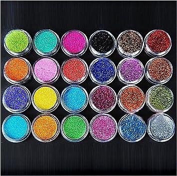 Amazon Xichen 24 Colors Nail Art Make Up Glitter Shimmer Dust