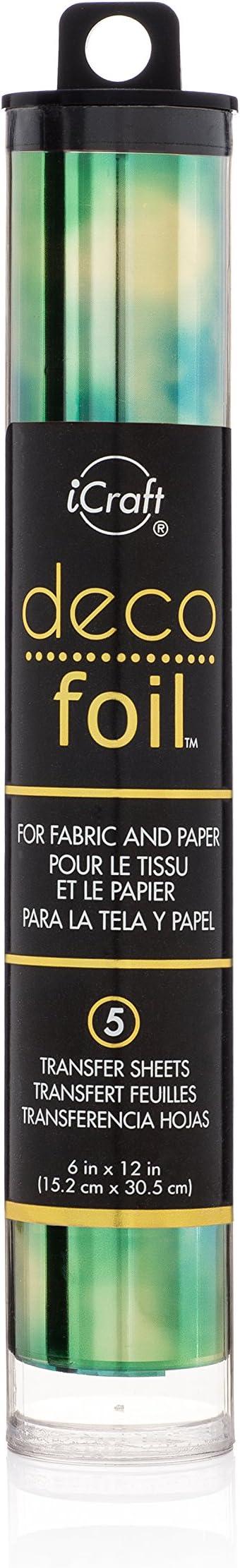 "Deco Foil Specialty Transfer Sheets 6/""X12/"" 5//Pkg-Emerald Watercolor"