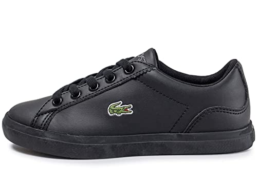 995f0e78217a7 Lacoste Lerond 317 Junior Kids Unisex Trainer Shoe Black Mono - UK ...
