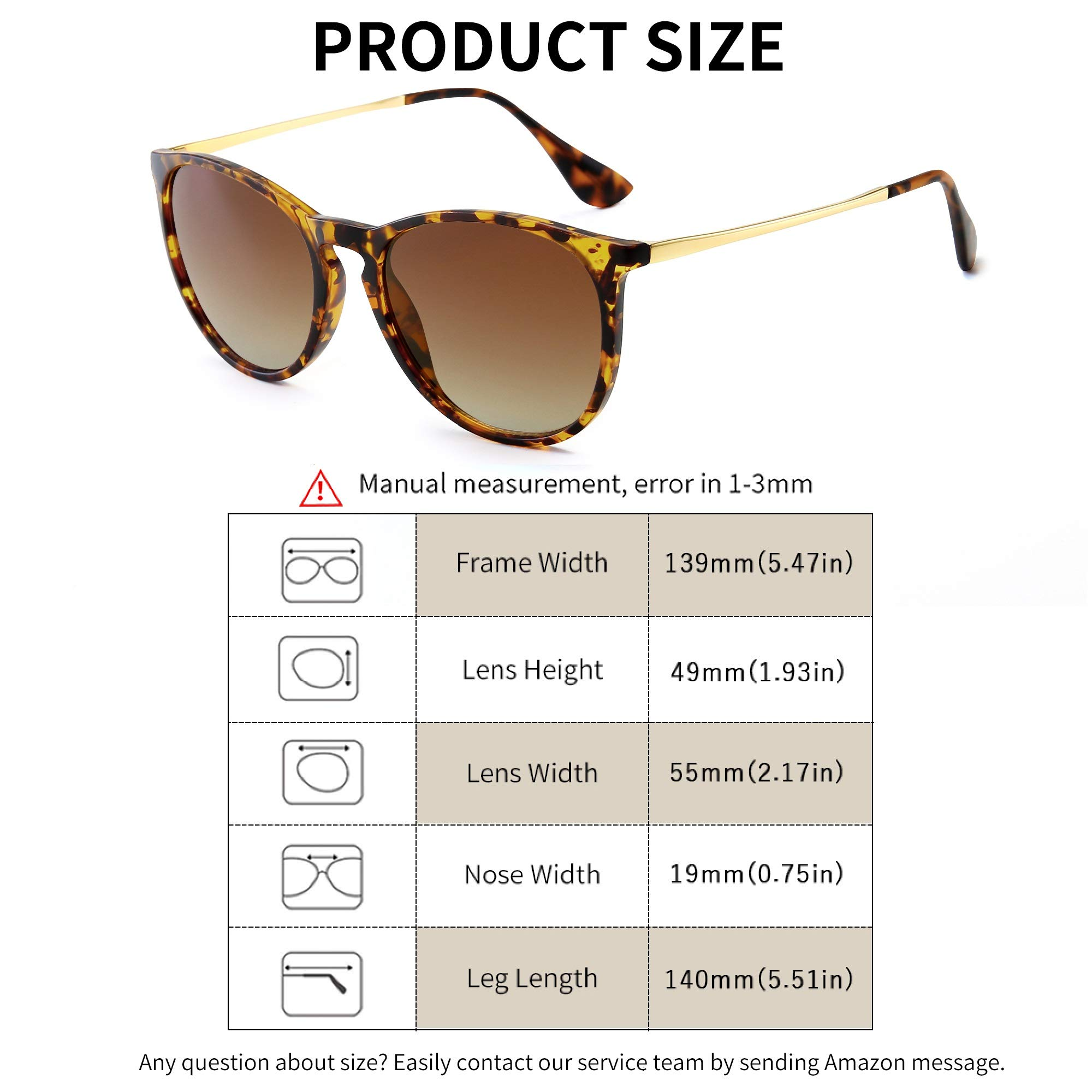 SUNGAIT Vintage Round Sunglasses for Women Girl Classic Retro Designer Style (Amber Frame(Matte Finish)/Brown Gradient Lens) 1567HPKCUK