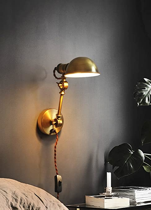 Swing Arm Wall Lamp Adjustable Wall Lamps 1 Light Wall Sconce Industrial Wall Lamp Mounted Lighting Fixture (Color : B) - - Amazon.com