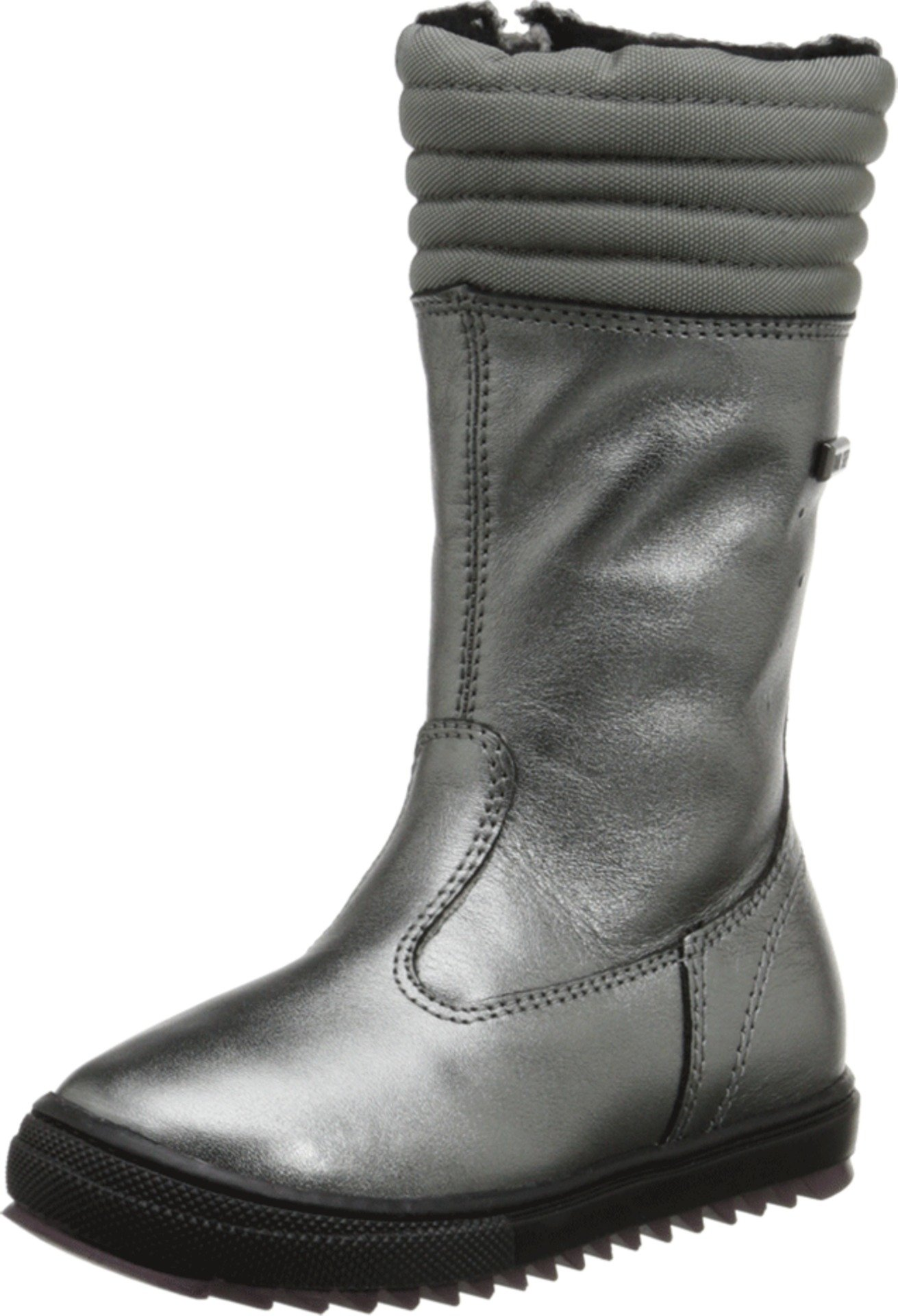Naturino Lucerna Black Leather Boot (Medium / 35 M EU / 4 M US Big Kid)